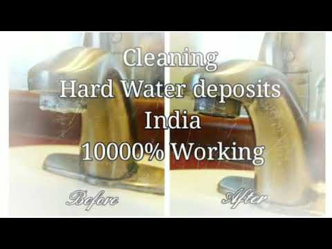How to clean Hard water Salt / Bore Water Deposits India