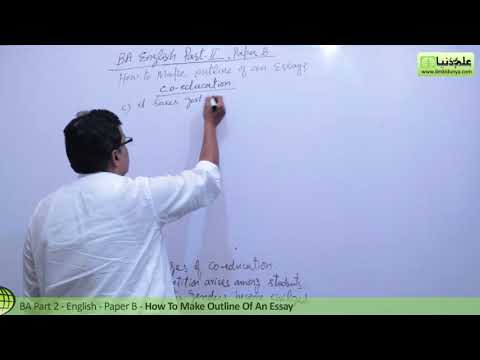 A English Essay Writing, How to Make an Outline BA Part 2 Paper B Punjab University