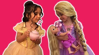 Disney Movie In Real Life PRINCESS MAGIC TEA PARTY + Real Cake + Popping Candy + Chocolate + Frozen Elsa Dolls Toys Dress Up Costume - PART 1  We love the Disney movies (especially Frozen, Tangled, Sleeping Beauty, Cinderella, Aladdin, The Little Mermaid, Beauty and The Beast) as well as dressing up in fancy costumes, playing with toys, eating cake, chocolate and candy and opening surprise eggs and kinder surprise eggs - so we made a HD video for kids filled with the Disney Princesses Elsa, Anna, Ariel, Cinderella, Snow White, Belle, Jasmine and Rapunzel having a tea party with real cake and exciting surprises! If you enjoyed our video featuring dress up for girls please subscribe, like and share it among your friends and of course remember to visit Kiddyzuzaa again! :)  Some of our Frozen giant surprise egg videos and Disney Princess videos:  Rapunzel Hair Disaster TANGLED BY MALEFICENT Real Life Disney Princess Movie + Jasmine Hairstyle  https://www.youtube.com/watch?v=KkidQ9fevAA  Disney Princess Mermaids - Frozen Elsa Anna Mermaid Dolls - Disney Princesses Dolls Mini Movie  https://www.youtube.com/watch?v=f-VC_C2hvgk&index=10&list=PLGJcvO6oYkIxka4Ky-6Gdouy9jgQOg-hG  Disney Frozen Videos – Elsa + Anna Toys Egg + Wand Plays Let It Go Song Music From Movie + Dolls  https://www.youtube.com/watch?v=puJ-QpbxYkI  Anna And Elsa In Real Life Frozen Fever Lego Toys Movie! Anna's Birthday Party! Frozen 2 Short!  https://www.youtube.com/watch?v=WEHFIMnkNko  Rapunzel In Real Life Disney Princess Candy Review Movie + Ariel Giant Egg Hunt + Kinder Eggs!  https://www.youtube.com/watch?v=_BqcQ5FR_TE  Disney Frozen Videos – Elsa And Anna Toys In Giant Frozen Surprise Egg Opening  https://www.youtube.com/watch?v=V0euOEWjIbQ   Disney Frozen Videos – Elsa Toys In Giant Frozen Surprise Egg Opening + Wig and Tiara  https://www.youtube.com/watch?v=mHn0_eh6psA  Sleeping Beauty