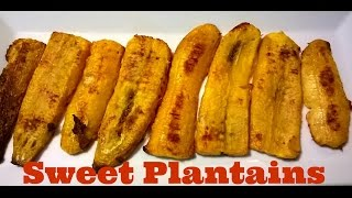 Baked Sweet Plantains No Oil Needed