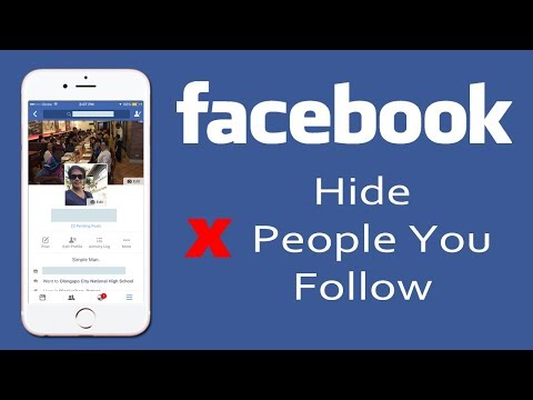 How to Hide People that You follow on facebook on iPhone