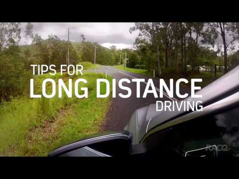 Tips for long distance driving