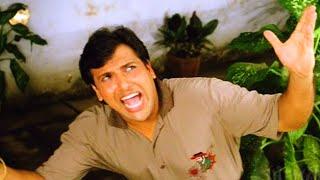 Govinda sings Hanuman Chalisa to irritate Farida Jalal - Dulaara - Comedy Scene