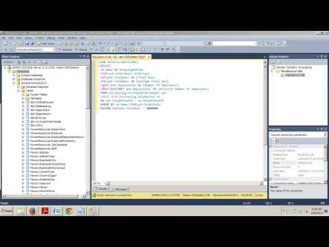 SQL Server tutorial 48: Using the HAVING Clause