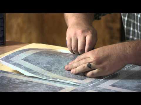 How to Lay Vinyl Floor Tiles in the Bathroom : Flooring Projects