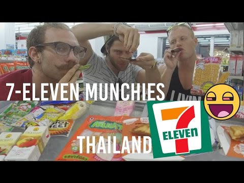 TRYING ASIAN SNACKS at 7-ELEVEN on 420 😱🌲 Bizarre Munchies Chiang Mai Thailand Travel Food Vlog