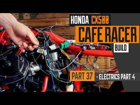 Honda CX500 Cafe Racer Build 37 - Wiring part 4, fitting the harness & ignition system