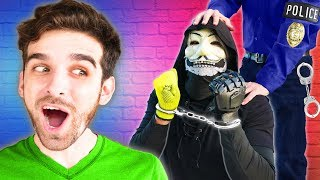 POLICE ARREST PZ9! Spending 24 Hours Spying on Hacker and Giving Him a Surprise Trip to Prison
