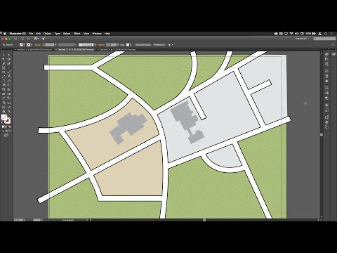 Drawing Roads on Simple Maps in Illustrator