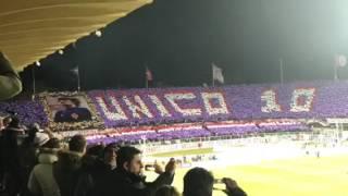 Fiorentina-Juventus, coreografia Curva Fiesole 15 gennaio 2017 per Antognoni