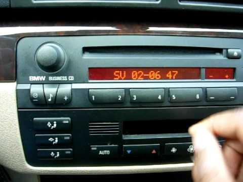 Quickly Unlock and Reset the REGION Code of your BMW Business CD CD53 Radio