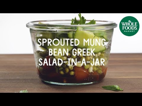 Sprouted Mung Bean Greek Salad-In-A-Jar l Whole Foods Market