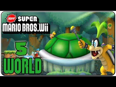 New Super Mario Bros. Wii 100% Walkthrough World 5