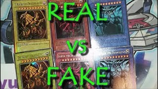 Yu-gi-oh! Guide - Gbi Egyptian God Cards Set Real Or Fake? How To Tell Between Authentic Counterfeit