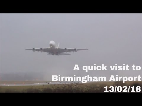 A quick visit to Birmingham Airport   13/02/18