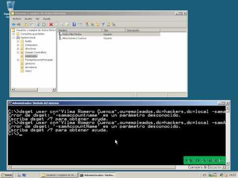 Obtener el identificador SAMID y el SID. Directorio Activo. Windows Server 2008. Comando DSGET.