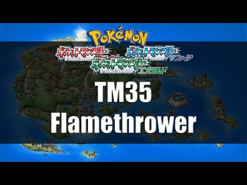 Pokemon Ruby/Sapphire/Emerald - Where to find TM35 Flamethrower