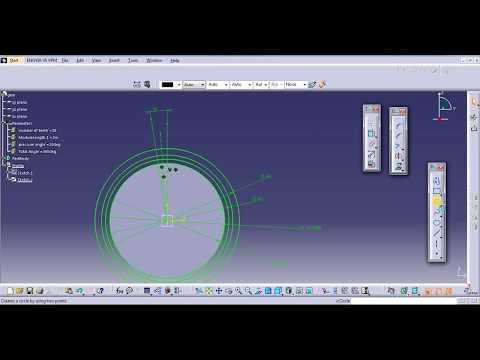 catia parametric gear design