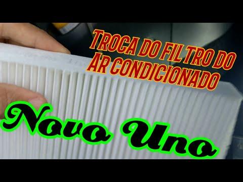 Troca do filtro do Ar condicionado do novo uno