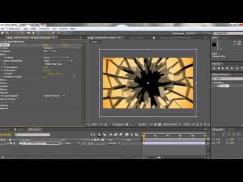 How to Use the Shatter Plugin Creating Bullet Debris In After Effects