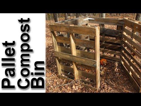 Pallet Compost Bin - GardenFork