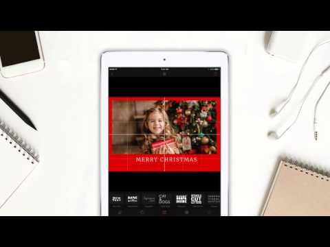 Create Christmas card in 60 seconds  - Cameraxis iPhone/iPad free app