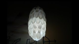 DIY How To Make Spoon Lamp With Plastic Bottle - Unique room decor