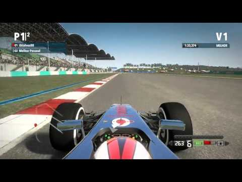 F1 2012 PC, TT Malaysia (Kuala Lumpur), control xbox 360 + setup