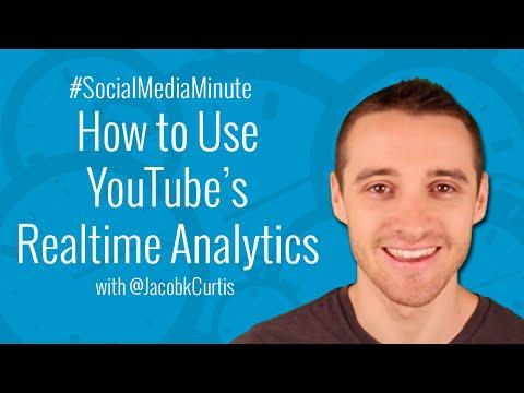 [HD] How to Use YouTube Realtime Analytics - #SocialMediaMinute