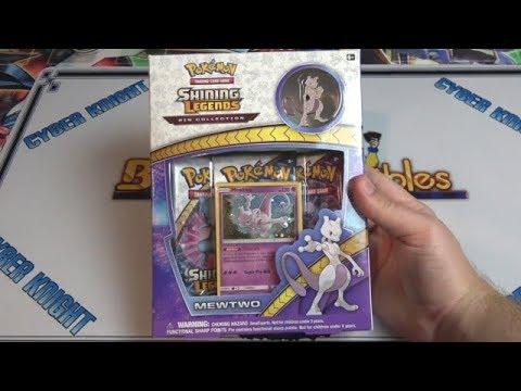 Pokemon Sun & Moon Mewtwo Shining Legends Pin Box