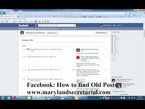 Facebook: How to Find Old Posts by Cindy Freland