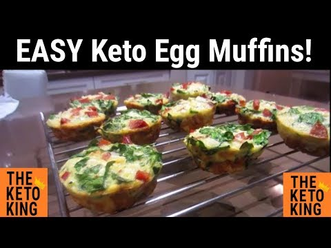 Easy Low Carb Egg Muffins | Easy Keto Breakfast Muffins | Low Carb Breakfast Muffins | Keto