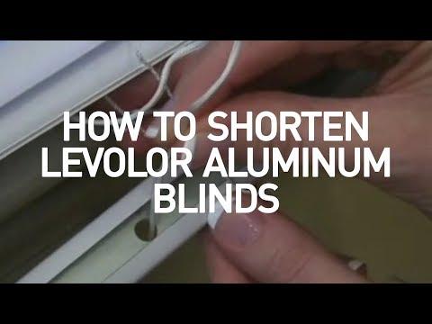 How to Shorten Aluminum Mini Blinds | Levolor Blinds