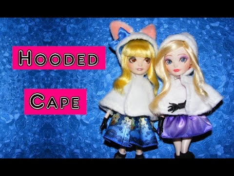 How to make Hooded Cape for Dolls Tutorial DIY