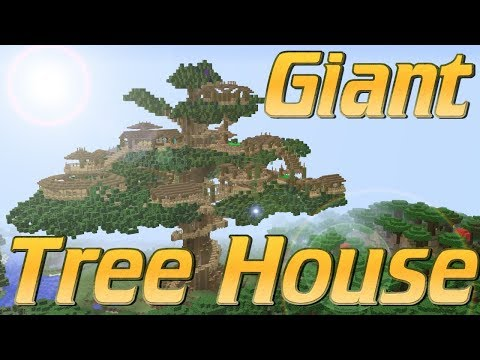 Minecraft How to Build a Tree House in Minecraft   A Giant Tree Village Tutorial   Epic Lets Build