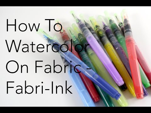 How To Watercolor on Fabric - *NEW* Fabri-Ink | Marvy Uchida