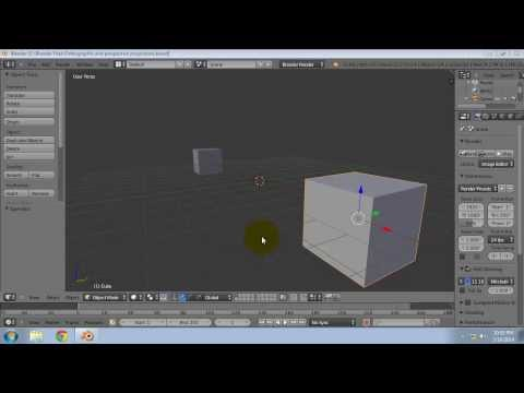 What is Orthographic and Perspective projection in Blender