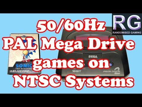 Gaming Knowledge - 50hz PAL Sega Mega Drive games run at 60hz on a NTSC Genesis or Mega Drive