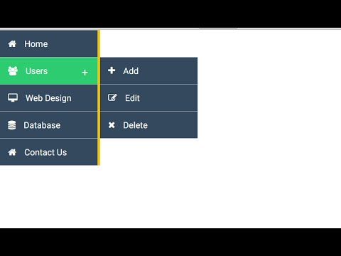 Design vertical menu with CSS