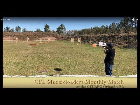 Central Florida Muzzleloaders Monthly Match at the CFLRPC Orlando