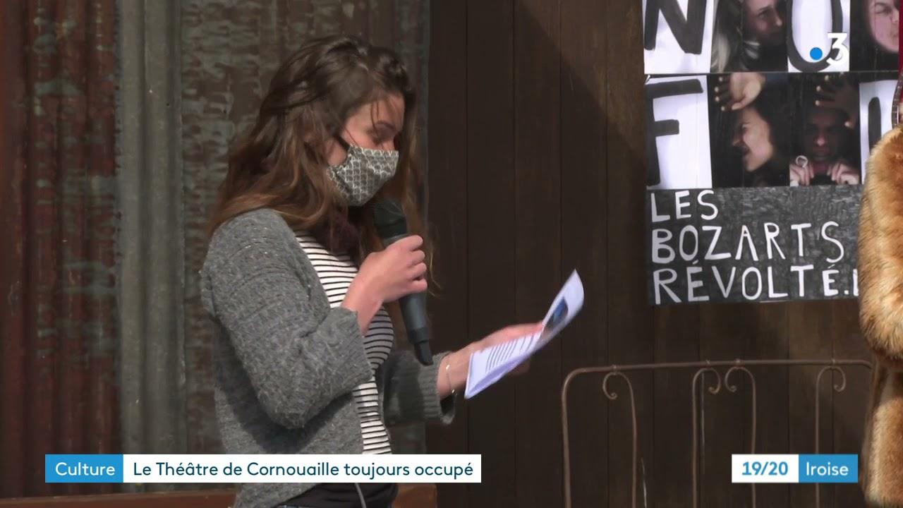 Les occupants du théâtre de Quimper tentent de faire vivre la culture malgré la crise sanitaire