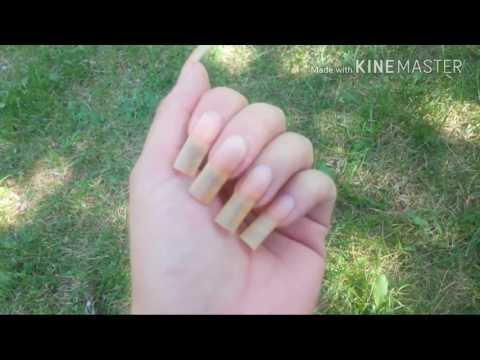 Showing my Long Natural Nails Unpolished