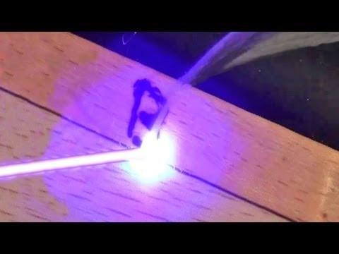 Pocket Blu-ray Laser Burner! Burn Wood Instantly!