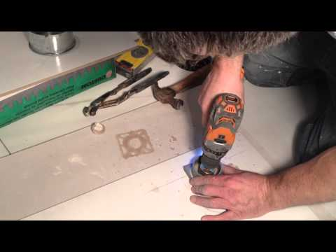 How to cut round holes in Porcelain/Ceramic tiles.