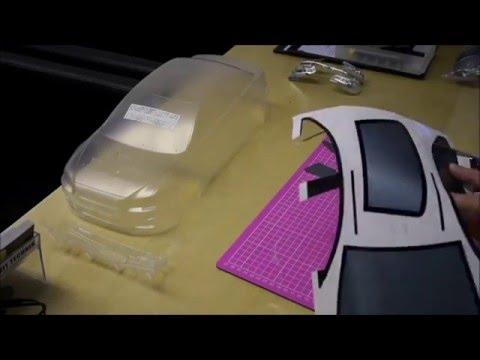 Drift RC Car Yokomo - Mitsubishi Evo X Body Build & Spray