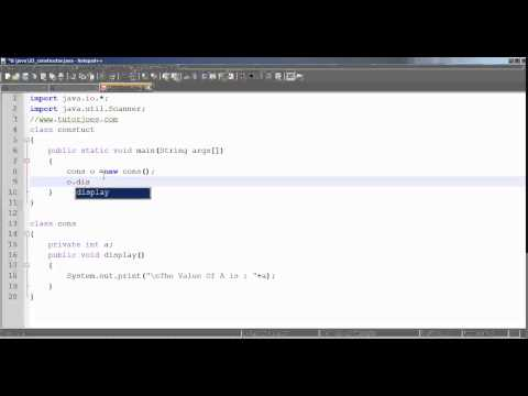 Constructor In Java  Tamil