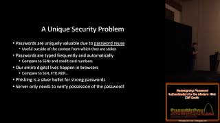 Download ShowMeCon 2019 13 Redesigning Password Authentication for the Modern Web Cliff Smith Video