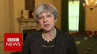 Theresa May to raise issue of information sharing with President Trump - BBC News