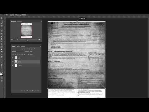 Use photoshop to make PDF document look scanned or printed