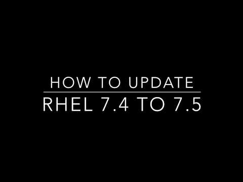 How to update/upgrade RHEL 7.4 to 7.5